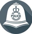 British Police Helmet Icon vector image vector image