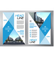 business brochure flyer design leaflets a4 vector image vector image