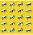 camera retro vintage seamless pattern background vector image vector image