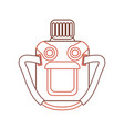 camping water bottle icon vector image vector image