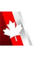 canadian flag symbolism corner frame vector image vector image