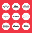 charts graphs and equalizer interface icons vector image