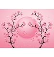 Cherry blossom motif template vector image vector image