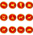 chinese astrology vector image