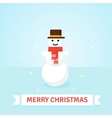 Christmas Snowman in red scarf and hat vector image vector image