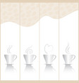 coffee banner vector image
