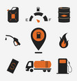 collection fuel station icons vector image