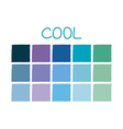 Cool Color Tone without Code vector image vector image