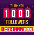 creative of 1000 followers vector image vector image