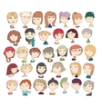 Cute with girls heads fun vector image