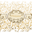 Damask Invitation card with classic ornaments vector image vector image