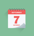 day calendar with date september 7 vector image vector image