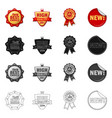 design of emblem and badge logo collection vector image