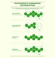 difference cannabinoids spectrum options vector image vector image