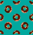 donut seamless pattern vector image