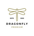 dragonfly logo icon vector image