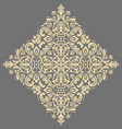 elegant golden ornament in classic style vector image vector image