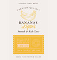 family recipe banana liquor acohol label abstract vector image