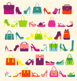 fashion background fashion Women bags vector image vector image