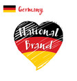 flag heart of germany national brand vector image vector image