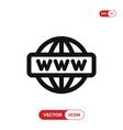 go to web icon internetwww symbol vector image vector image