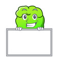 grinning with board shrub character cartoon style vector image