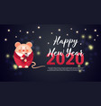 happy chinese new year 2020 year rat cute vector image vector image