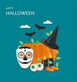 happy halloween flat style design vector image vector image