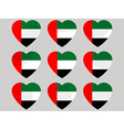 Heart with the flag of United Arab Emirates vector image vector image