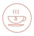 Hot tea in cup line icon vector image vector image