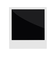 Isolated instant photo in flat design style Templa vector image vector image