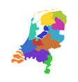 Map of the Netherlands vector image vector image