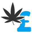 Marijuana Pound Business Flat Icon Symbol vector image vector image