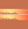 montpellier beautiful skyline scenery banner vector image vector image