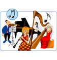 musical quartet vector image vector image