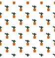 natural cactus pot pattern seamless vector image vector image