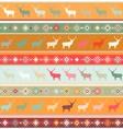 Norwegian Christmas pattern vector image vector image