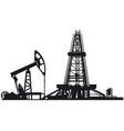 oil drilling derrick vector image vector image