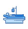 patient line icon vector image vector image