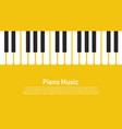 piano on a yellow background vector image