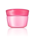 Pink body cream can with lid vector image vector image