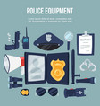police security equipment set vector image vector image