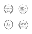 quality label set vector image vector image