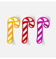 realistic design element candy cane vector image vector image