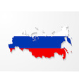 Russia map with shadow effect presentation vector image vector image