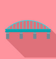 safe bridge icon flat style vector image vector image