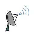 satellite dish icon vector image