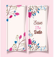 save date fowers decorative floral wedding vector image