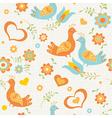 seamless wallpaper birds vector image vector image