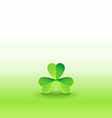 Shamrock clover on beautiflul wallpaper vector image vector image
